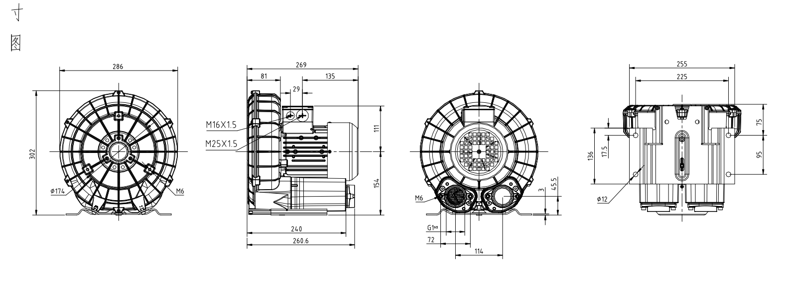 750W高压防爆风机 高压防爆鼓风机,中压防爆鼓风机,变频防爆鼓风机,防爆鼓风机,0.75KW防爆鼓风机