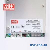 原装正品台湾明纬电源RSP-750-48 750W 48V15.7A 单路可调电压输出带功率因素校正1U薄型明纬开关电源