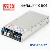 原装正品台湾明纬电源RSP-750-27 750W 27V27.8A 单路可调电压输出带功率因素校正1U薄型明纬开关电源