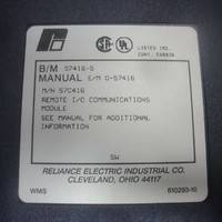 RELIANCE ELECTRIC COMMUNICATION MODULE 57416-S瑞恩电子通信模块现货销售