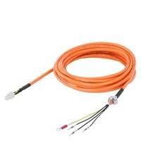 西门子V90电力电缆预装配 6FX3002-5CK01-1AD0 3m 用于0.05-1kW电机
