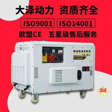 大泽动力TO14000ET静音柴油发电机10KW/千瓦等功率220V380V双缸风冷 高原柴油发电机,10kW静音柴油发电机,柴油发电机厂家