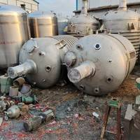 二手5000升5吨5立方内外盘管不锈钢反应釜4台全新未用