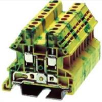 DINKLE/台湾町洋 大线径接地导轨端子DK16N-PE螺丝固定式一进一出直通型接线端子