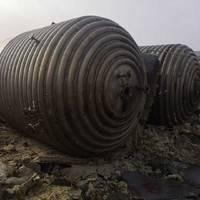 二手10吨内外盘管不锈钢反应釜多台