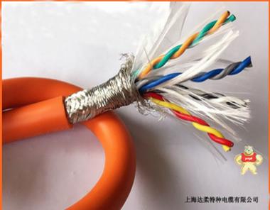 达柔供应TRVVSP24*2*0.75多芯耐弯曲拖链电缆TRVV8*1.5 耐弯曲拖链电缆,耐磨电缆,拖链电缆