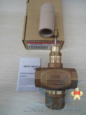 霍尼韦尔V5013P1002电动三通水阀调节阀螺纹水管阀门铜DN32 霍尼韦尔,V5013P1002,电动三通水阀调节阀