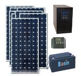 品牌3KW太阳能发电系统 3000W家用离网发电系统 带空调冰箱电磁炉