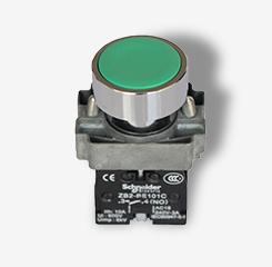 施耐德绿色按钮XB2BA31C一常开22mm普通平头按钮